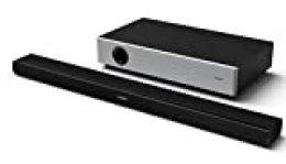 Sharp HT-SBW160 2.1 - Barra de Sonido Cine En Casa, Subwoofer Inalámbrico, Bluetooth, control de Rango Dinámico, Hdmi Arc/Cec, 360 W de Potencia, Color Negro