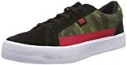 DC Shoes (DCSHI) Lynnfield Se-Leather Shoes For Kids, Zapatillas de Skateboard para Niños