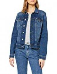 Tommy Hilfiger Slim Trucker Jacket Ady Chaqueta, Azul (Audrey Mid Bl Str 1a5), 32 (Talla del Fabricante: XX-Small) para Mujer