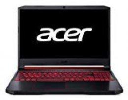"Acer Nitro 5 - Ordenador portátil Gaming de 15.6"" (FHD ComfyView IPS LED LCD, 8GB de RAM, 512GB SSD, NVIDIA GeForce GTX 1660Ti 6GB, Sin sistema operativo) - Teclado Qwerty Español"