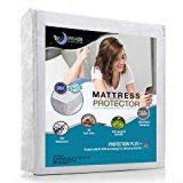 Dreamzie Protector de Colchón Impermeable (80 x 160 cm) - Cubre Colchón Transpirable, Hipoalergénico, Anti-Ácaros Tratamiento Nueva Generacion Bi-Ome: Óptima Protección - Garantia de 10 años