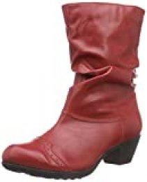 Andrea Conti 3009213 - botas de caño bajo de material sintético mujer, Rojo - Rouge (021), 36