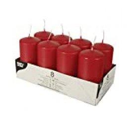Papstar Velas, parafina, rojo, 50 mm · 100 mm