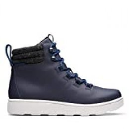 Clarks Step Explor Hi, Botas para Nieve para Hombre, Azul Marino, 43 EU