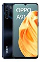 """OPPO A91 - Smartphone de 6.4 """" AMOLED, 8GB, 128GB, Octa-core, cámara trasera  48 + 8 + 2 + 2 MP, cámara frontal 16 MP, 4.000 mAh, Android 9, Negro"""