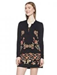 Desigual Sweat_Daniela suéter, (Negro 2000), Large para Mujer