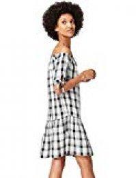Marca Amazon - find. Vestido Corto con Hombros al Aire Mujer