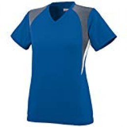 Augusta Sportswear Girls' Mystic Jersey M Royal/Graphite/White