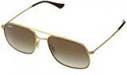 Ray-Ban 0RB3595 Gafas de sol, Rubber Gold, 59 Unisex