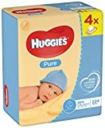 Huggies Pure - Toallitas húmedas (4 x 56 unidades)