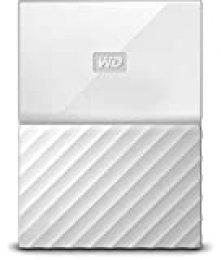 WD My Passport - Disco Duro Portátil de 3 TB y Software de Copia de Seguridad Automática, Blanco