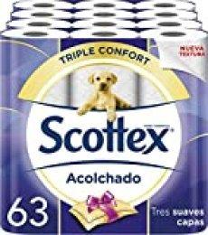 Scottex Acolchado Papel Higiénico - 63 rollos