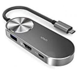 VAVA HUB USB C, (5 en 1), Carga 100W + HDMI 4K UHD + 2 Puertos USB 3.0 + Lector de Tarjeta SD, Concentrador y Adaptador Multipuerto Compatible con MacBook Pro y Portátil Windows Tipo C