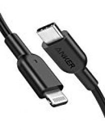 Anker Cable USB C a Lightning [0,9 m, certificación MFi de Apple] Powerline II para iPhone X/XS/XR/XS MAX / 8/8 Plus, Compatible con Power Delivery (para Usar con Cargadores Tipo C)