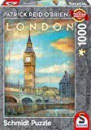 Schmidt Spiele- Patrick Reid O'Brien - Puzzle (1000 Piezas), diseño de Londres (59585)