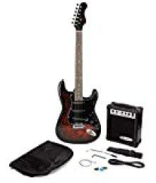 Paquete Jaxville Demonio ST Estilo de la guitarra eléctrica con amplificador de guitarra, guitarra bolsa, secuencias de la guitarra, correa de la guitarra, la guitarra y la guitarra púas