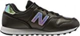 New Balance 373v2, Zapatillas para Mujer, Negro (Black/White Gb2), 36.5 EU