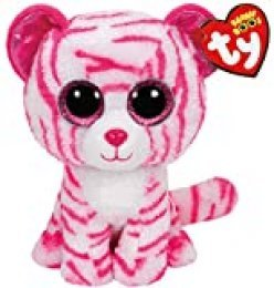 TY - Beanie Boos Asia, Tigre, 15 cm, Color Blanco / Rosa (United Labels Ibérica 36180TY)