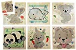 Hess 14957 - Puzzle de Madera para niños a Partir de 3 años, diseño de Oso Natural, 6 imágenes, 24 Piezas, Regalo de cumpleaños, Navidad o Pascua