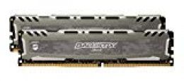 Ballistix Sport LT BLS2C4G4D26BFSB/BLS2K4G4D26BFSB - Kit de Memoria RAM de 8GB (4 GB x 2, DDR4, 2666 MT/s, PC4-21300, Single Rank x8, DIMM, 288-Pin) gris