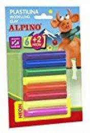 Alpino DP000051 - Blister 8 rollitos de plastilina