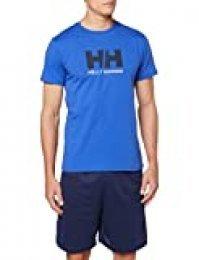 Helly Hansen T-Shirt Camiseta de Manga Corta Hecha de algodón, con Logo HH en el Pecho, Hombre, Royal Blue, M
