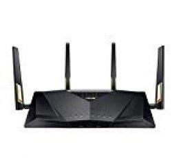 ASUS RT-AX88U - Router Gaming AX6000 Doble Banda Gigabit (Triple VLAN, Wifi 6,  Ai-Mesh soportado, WTFast Acelerador de Juegos, QoS, AiProtection PRO)
