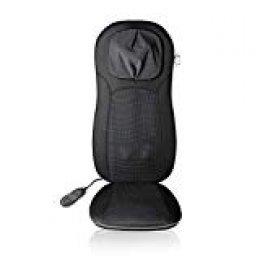 Medisana MCN Pro 88970 - Respaldo Masajeador para la Espalda Shiatsu y Acupresión, 3 Modalidades, Cuello Altura Regulable, Asiento, Función Calor