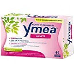 Ymea Silueta| Tratamiento de la Menopausia | Doble acción - Control de Sofocos y Control de la Silueta | Apto para Uso Prolongado | Sin Estrogenos, Soja o Consevantes| 64 cápsulas | Tratamiento 1 mes