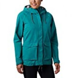 Columbia South Canyon Chaqueta Impermeable, Mujer, Verde (Waterfall), S
