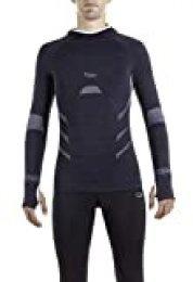 XAED - Camiseta de running para hombre (negro, grande)