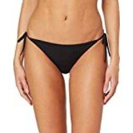 Calvin Klein Cheeky String Side Tie Bikini Braguita, Negro (Pvh Black Beh), 46 (Talla del fabricante: X-Large) (Pack de 2) para Mujer