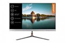 """Lenovo L24q -Monitor de 23,8"""" (Pantalla QHD, 2560 x 1440 pixeles, tiempo de respuesta de 4 ms, HDMI, 1000:1), Color plata"""
