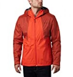 Columbia Inner Limits II Chaqueta Impermeable, Hombre, Rojo Oscuro, Rojo (Wildfire, Carnelian Red), XXL