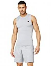 Under Armour Rush Heatgear Compression SL Tanque, Hombre, Gris, XL