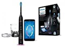 Philips Sonicare DiamondClean Smart HX9901/13  - Cepillo de dientes eléctrico con App de formación personalizada, sensor de presión, 4 modos, 3 intensidades y cargador de vaso, color negro