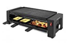 Suntec Wellness RAC-8625 Turbo plancha para pizza y raclette, Negro