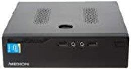 Medion S22003 - Ordenador de sobremesa (Intel Core i3-5005U, 8GB RAM, 512GB SSD, Intel HD Graphics, sin Sistema operativo) Negro