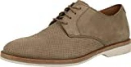 Clarks Atticus Lace, Zapatos de Cordones Derby para Hombre, Beige (Sage Nubuck Sage Nubuck), 40 EU