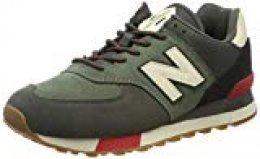 New Balance 574v2, Zapatillas para Hombre, Verde (Green/Red Green/Red), 36 EU