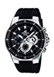 Casio EDIFICE Reloj en caja sólida de acero inoxidable, 10 BAR, Negro, para Hombre, con Correa de Acero macizo, EF-552-1AVEF
