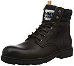 Tommy Hilfiger Casual Leather Boot, Botas Clasicas para Hombre