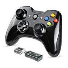 [2019 Versión] Mando Inalámbrico, EasySMX 2.4GHz Gaming Controller Gamepad Joystick con Doble Vibración, Juega con 8 Horas, para PS3 / PC / Android Phones/Tablets/TV Box