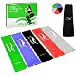 Victorem Mini Loop Bandas Ejercicio, condición física, casa Rutina de Resistencia Entrenamiento Fitness Set Crossfit, Ejercicio, estiramientos, Movilidad
