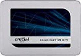Crucial MX500 250GB CT250MX500SSD1 Unidad interna de estado sólido-hasta 560 MB/s (3D NAND, SATA, 2.5 Pulgadas)