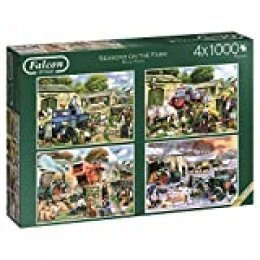 Jumbo-Seasons on The Farm 4 Puzzles de 1000 Piezas Cada uno (611181.0)