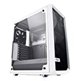 Fractal Design Cristal Templado Alto Flujo de Aire Compacto meshify C ATX PC Caso–Blanco