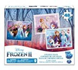 Disney Spin Master- 6052967- Frozen II Super 3D, Pack de 3 rompecabezas, a partir de 4 años, 48 x 3 piezas