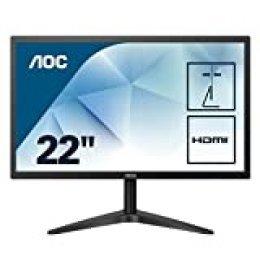 """AOC 22B1H - Monitor de 21.5"""" con pantalla Full HD (TN, VGA, HDMI, Fino)"""