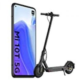 """Xiaomi Mi 10T Pack de Lanzamiento (Pantalla 6.67"""" FHD+ DotDisplay, 6GB+128GB, Cámara de 64MP, Snapdragon 865 5G, 5.000mAh con carga 33W) Negro Cósmico [versión española] + Scooter Essential"""